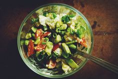 Goat Cheese and Avocado Salsa recipe. Wow!