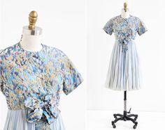 vintage 1960s dress / 60s Galanos dress / Blue by RococoVintage