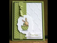 Video Instructions to make this Happy Easter Card using the Everybunny stamp set from Stampin' Up.