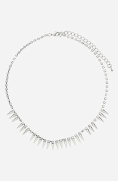 Topshop Rhinestone Chain Necklace | Nordstrom
