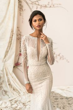 Discover exquisite designs from the Justin Alexander Sig .- Wedding dresses from Justin Alexander Signature - Art Deco Wedding Dress, Classic Wedding Dress, Sexy Wedding Dresses, Wedding Attire, Bridal Dresses, Backless Wedding, Justin Alexander Signature, Justin Alexander Bridal, Dresses Short
