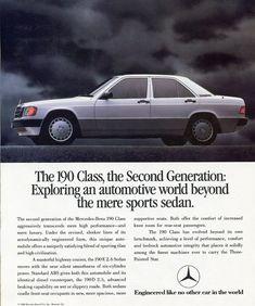 My original Baby Benz - 1989 Mercedes LE Mercedes Benz 190e, Mercedes 190, Classic Mercedes, Aryton Senna, Car Brochure, Sports Sedan, Car Advertising, Vintage Ads, Classic Cars