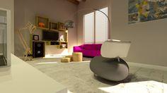 Modern #interieur... #leolux #pallone #design  Ontwerp kast door Puls Design.