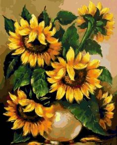 flores para pintar cuadros - Buscar con Google Watercolor Sunflower, Watercolor Flowers, Watercolor Paintings, Sunflower Garden, Sunflower Art, Art Floral, Sunflower Pictures, Happy Flowers, Flower Crowns