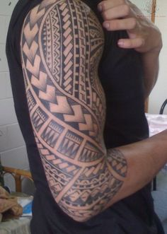 samoan ink   Samoan Sleeve Tattoo Rate My Ink Pictures Amp Designs - See It