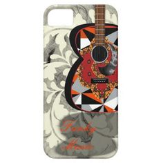 Funky Music Fancy Patterned Guitar Phone Case