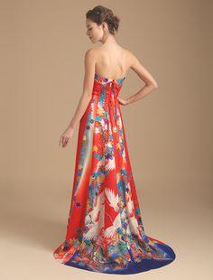 Wedding dress, if high quality wedding dress W by Watabe Wedding / kimono dress · silk · red · A line