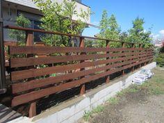雑木とウッドフェンスと石張りサークルテラス 神奈川県愛甲郡愛川町E様邸7