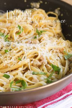 Linguine with clam sauce - super easy, incredibly delicious, and ready in 20 minutes!