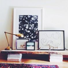 A GENIUS Small-Space Trick For Your Living Room #refinery29  http://www.refinery29.com/best-coffee-tables#slide5  Cut a piece of wood to your desired length and then stack magazines beneath.