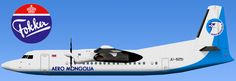 Aero Mongolia Fokker 50
