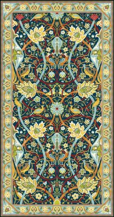 Bullerswood Rug Carpet by William Morris by LenaLawsonNeedleArts, $24.00