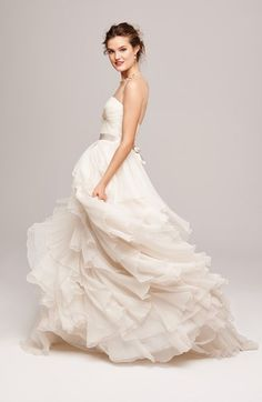 Watters Washed Silk Organza Ballgown Wedding Dress | Nordstrom