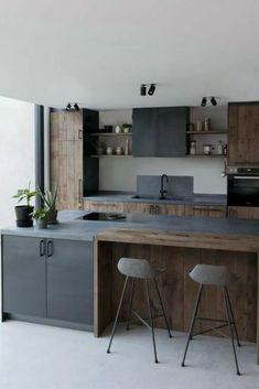 eksempler på luksus køkken design til at inspirere dig - Jack West Industrial Kitchen Design, Luxury Kitchen Design, Kitchen Room Design, Contemporary Kitchen Design, Kitchen Cabinet Design, Home Decor Kitchen, Interior Design Kitchen, Home Kitchens, Kitchen Colors