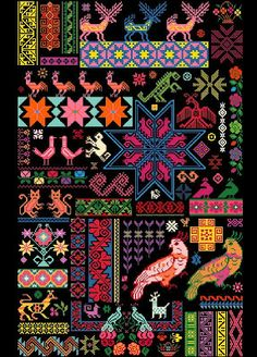YARN JUNGLE: Mexican Sampler Chart