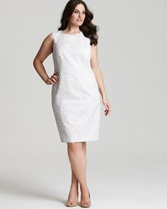 Cute Plus Size Spring Dresses | FOUR SOPHISTICATED AND CHIC SPRING PLUS SIZE DRESSES FROM CALVIN KLEIN