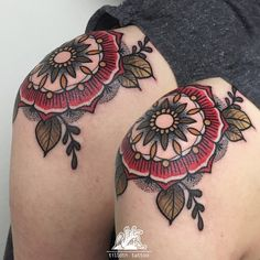 back in germany - i have had a colored day! thank you celina! #mandala #mandalatattoo #flower #dotwork #tilldth #tilldthtattoo #theelectricscarabeus #tattoo #girlswithtattoos
