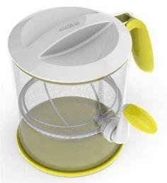 This flour sifter has a cup capacity. This sifter has a comfort grip handle and a non-slip base. This flour sifter also come with a lid and has a nice white and purple color scheme. Cake Supplies, Baking Supplies, Baking Tools, Wilton Cupcakes, Cupcake Cakes, Wilton Products, Kitchen Gadgets, Kitchen Appliances, Cupcakes Decorating