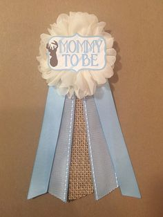 Camo Oh Deer Stag blue Baby Shower Mommy-to-be Flower by afalasca