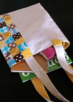Patchwork tote :: I heart linen