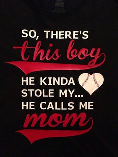 Baseball Mom So There's This Boy T-Shirt or Hoodie - Customized  Vinyl Mother and Son on Etsy, $16.00
