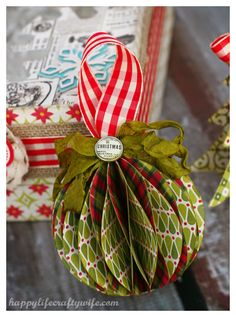 christmas paper ornament tutorial