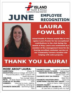Congratulations to our Laura Fowler for earning our Employee Recognition Award in June! employee recognition #motivation