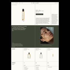 "Natasha Mead on Instagram: ""Detail view of our work on the new @f.miller.skincare website and packaging design"""