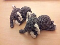Meimei is a tiny little crochet elephant. ✔ OK TO SELL WITH CREDIT TO DESIGNER ✔