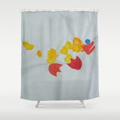 Button Eyed Duck Shower Curtain by Art My Toddler Made - $68.00