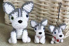 Amigurumi Siberian Husky [Pattern from Ami Ami Dogs]