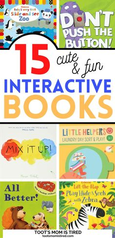 15 Best Interactive Books for Toddlers and Preschoolers | fun books to read to kids, books with interaction, books with games for preschoolers Toddler Preschool, Preschool Activities, Best Books To Read, Good Books, Two Years Old Activities, Interactive Books For Kids, Everything Preschool, Toddler Books, Three Year Olds
