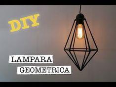 DIY   COMO HACER DECORACION HOGAR   LAMPARA GEOMETRICA HIMMELI   ♡ STEFFIDO Diy Lampe, Geometric Lamp, Make A Lamp, Cnc Projects, Deco Furniture, Handmade Home Decor, Presentation Design, Modern Retro, Diy Crafts