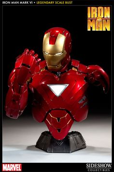 Sideshow Collectibles - Iron Man - Mark VI Legendary Scale Bust