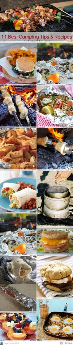 EASY Camping Recipes - because I MIGHT go camping - someday...