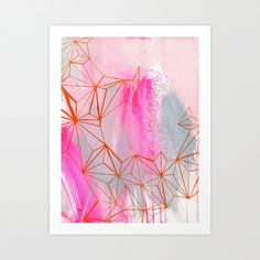 hot mouths Art Print by kaylanewell Contemporary Art Prints, Galaxy Art, Inspirational Wall Art, Dot And Bo, Beautiful Paintings, Home Art, Amazing Art, Artsy, Abstract