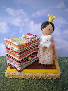 Princess & the Pea Clothespin Doll