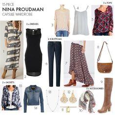 Nina Proudman capsule wardrobe