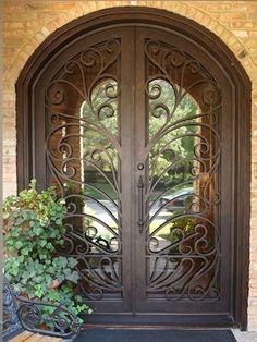 Beautiful wrought iron door