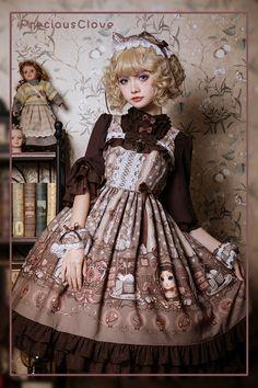 Precious Clove -Private Cat- Sweet Lolita Jumper Dress - My site Grunge Look, Style Grunge, 90s Grunge, Soft Grunge, Grunge Outfits, Harajuku Fashion, Kawaii Fashion, Lolita Fashion, Tokyo Street Fashion