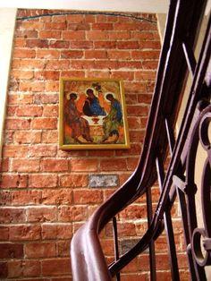 Wspierając się Trójcy. Ikona Rublowa w klasztorze w Łodzi, fot. Paweł Fiedorowicz #dominikanie #konkurs #4poryroku