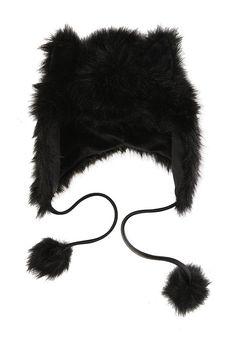 BLACK FUR PERUVIAN BEANIE BEAR Hats | Accessories from Hot Topic