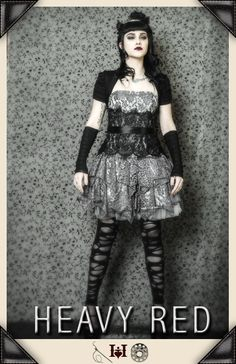 Gothic Dresses and costumes by Gothic Clothing designer Ondine for Heavy Red Couture Noir. Neo Victorian and Edwardian touches to modern day Gothic Fashion.