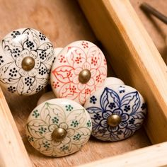 hand painted, fair trade door knobs - i want them.
