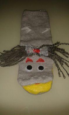 Çorap tan yaptığımız kukla.