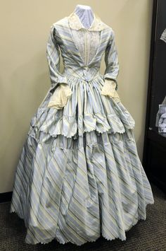 Dress recreated from an 1849 engraving.