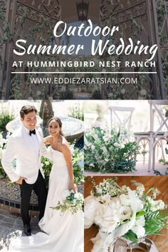 Outdoor summer wedding at the Hummingbird Ranch in California with Shani and Ruben. Get inspired by this elegant wedding with soft and romantic florals. White, cream, blush, and natural green florals truly added to the couple's romantic day. #floraldesigninspiration #weddinginspiration #eddiezaratsian Wedding Trends, Wedding Ideas, Floral Event Design, Cream Blush, Floral Bouquets, California Wedding, Hummingbird, Color Palettes, Elegant Wedding