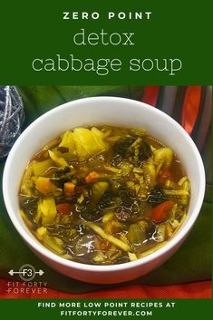 Our Detox Cabbage Soup is loaded with hearty vegetables and spices. This zero-point vegetable soup is a great counterbalance to holiday indulgences. Low Sugar Recipes, Light Recipes, Healthy Recipes, Healthy Meals, Cooked Shrimp, Large Slow Cooker, Coleslaw Mix, Detox Soup, Cabbage Soup