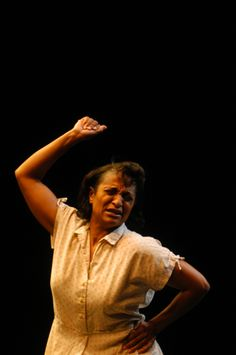 "From The Best of the Fest Benefit Performer: Vanessa Adams-Harris in her piece ""Who Will Sing for Lena?"""