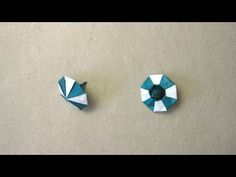 Instructions on how to fold an origami spinning top; Design by Manpei Arai; Video by Sara Adams Origami Toys, Origami Modular, Origami Cube, Origami Paper Art, 3d Origami, Oragami, Origami Instructions, Origami Tutorial, Book Folding